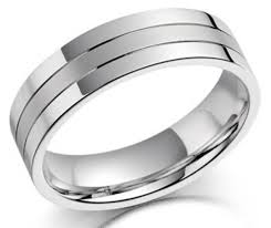 18ct white gold wedding ring mens 18ct white gold grooved 4mm court wedding ring newburysonline