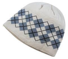 argyle pattern jacquard knit acrylic beanie china wholesale
