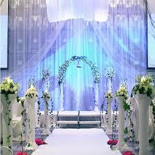 backdrop wedding korea 3 4m wedding party silk fabric drapery white blue color with