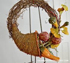 thanksgiving cornucopia treats cornucopia fall wreath celebrate u0026 decorate