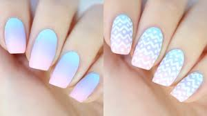 easy ombré nails for easter youtube