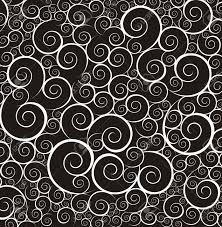 black and white ornament background vector illustration royalty