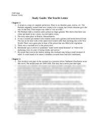 scarlet letter study guide ch 1 8 at bishop dwenger high