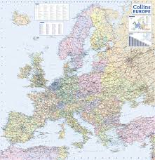 Maps Of Europe by 2017 Collins Map Of Europe Collins Road Maps Amazon Co Uk