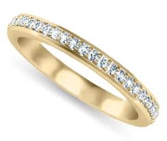womens gold wedding bands women s wedding rings pave diamond wedding ring in yellow gold
