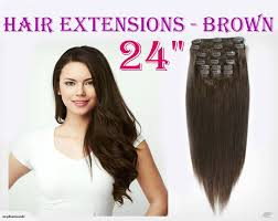 Human Hair Extensions Nz by Clip Straight Long Hair Extensions 24