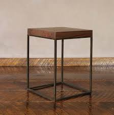 X Side Table Square Wood And Steel Side Table Pfeifer Studio