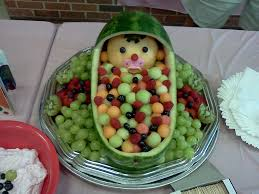 watermelon baby my husband and i made for a baby shower cool