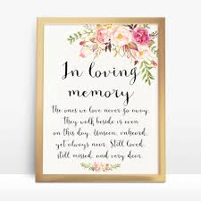 in loving memory wedding instant pink floral wedding sign in loving memory