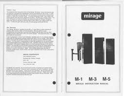 mirage speakers m1 user manual pdf download