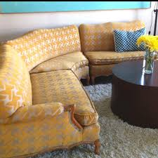 Yellow Sectional Sofa Yellow Sectional Couch Reupholstered Want Need Love My