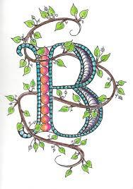 Monogram Letter B Zentangle Inspired Monogram Letter Note Card By Leopardtude
