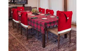 christmas chair covers santa s hat christmas chair covers 4 or 8 pack groupon