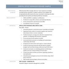 office manager resume sle resume orthodontic office manager copy dental front desk