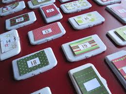 diy advent calendar made from wipes lids no time for flash cards