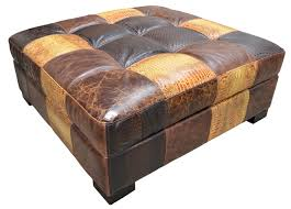 sullivan leather ottoman affordable sullivan leather cube with