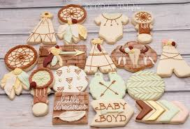 boho baby shower boho baby shower cookies cookie connection