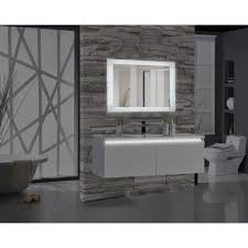 Illuminated Bathroom Mirrors Encore Blu103 48 In W X 27 In H Rectangular Led Illuminated