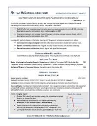 Sample Information Security Resume by Examples Of Effective Resumes