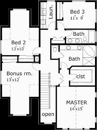 narrow house floor plans narrow lot house plans traditional tandem garage 3 bedroom bonus