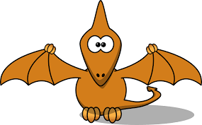 cartoon pterodactyl dinosaur coloring sheet colouring page