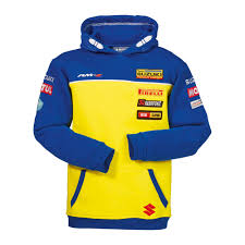 suzuki genuine mxgp replica kids hoodie two front pocket hooded