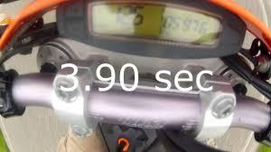 ktm exc r 530 motard 0 100 km h test 0 60 mph youtube