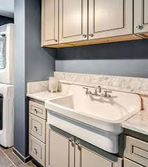 Whitehaus WHCW Top Mounted Laundry Sink With A High Backsplash - Utility sink backsplash