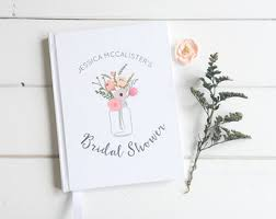 wedding gift registry book bridal shower book etsy