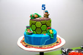 tmnt cake mutant turtle party
