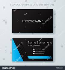 business card name card template modern stock vector 287430344