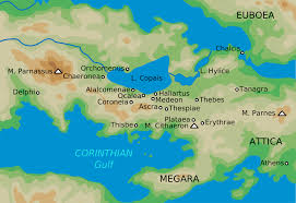 Map Of Greece With Cities by Boeotia Wikipedia