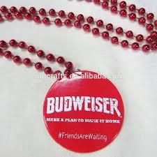 mardi gras bead necklaces mardi gras necklace oem flat disc plastic printed