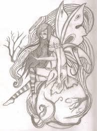 dark fairy pencil sketch by abandongoddessyakimi on deviantart