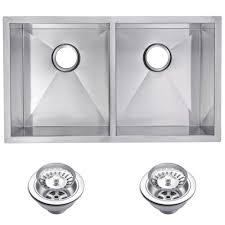 scratch resistant stainless steel sink water creation undermount zero 28 in 0 hole double bowl kitchen