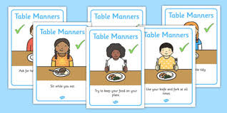 table manners manners rules display posters sen table manners display
