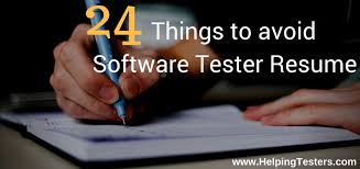 Software Testing Fresher Resume Sample by 24 Mistakes In Software Tester Resume Helpingtesters