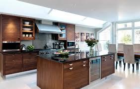 contemporary kitchen solid wood wooden island walnut