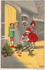 christmas postcards 61 best pauli ebner images on vintage postcards