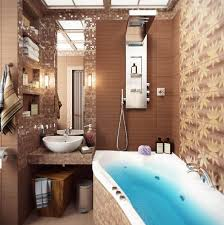 Modern Bathroom Colour Schemes - bathroom decorating in blue brown colors chocolate inspiration