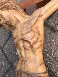 wooden wall crucifix large and detailed early 1900s carved wall crucifix corpus of