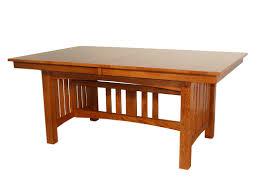 red barrel studio jere solid oak mission dining table wayfair
