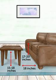 what size coffee table the property brothers design cheat sheet that you need area rug