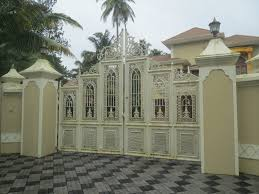 house gate in kerala india black colour from white haammss