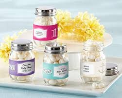 personalized baby shower favors mini glass jar personalized baby shower favors by kate aspen