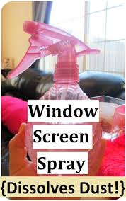 images about organize pinterest life hacks make your diy natural window screen spray dissolves dust homemade version