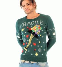 flashing lights ugly sweater