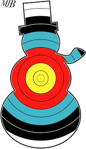 printable christmas targets target archery faces calcresult festive designs shooting stuff