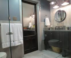 Industrial Style Bathroom Industrial Style Bathrooms Remodel Ideas Stylish Barn Style Door