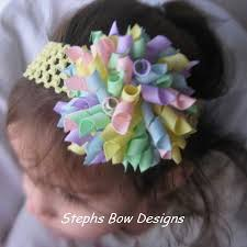 easter hair bows easter pastels korker hair bow stephs bow designs